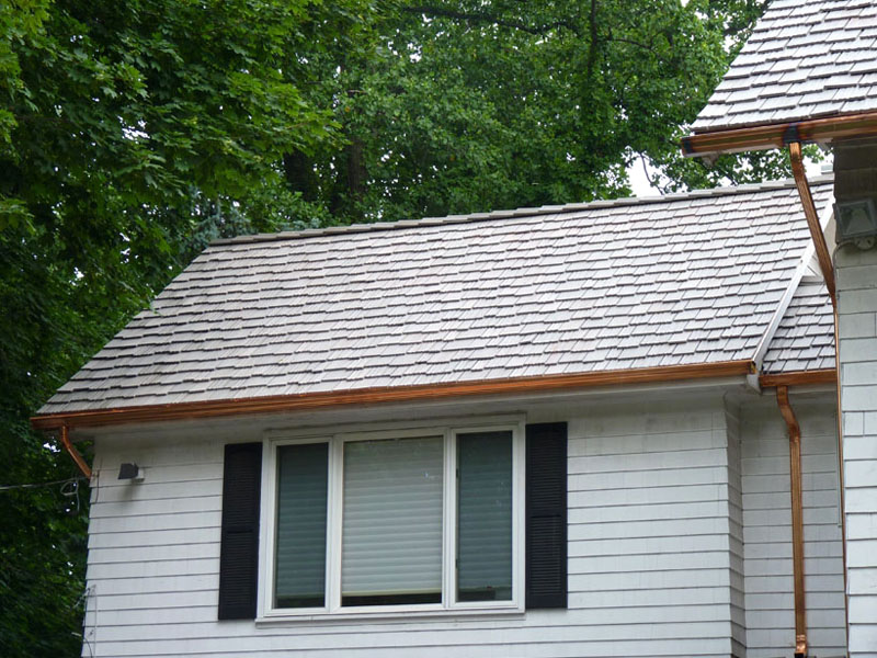 Standing Seam Copper Roof & Gutters