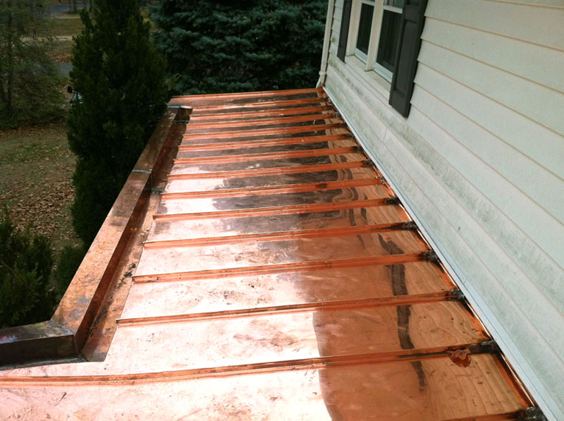 Flat Seam Copper Roofing Installation